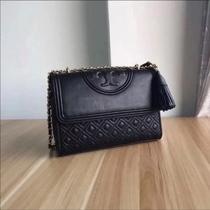 ♥️Tory Burch Fleming Crossbody Black Leather ♥️